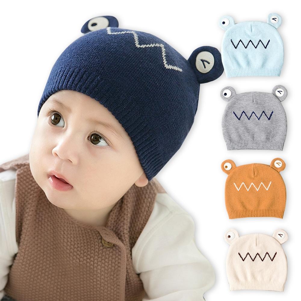 JoyNa青蛙造型保暖護耳帽 帽子毛線帽