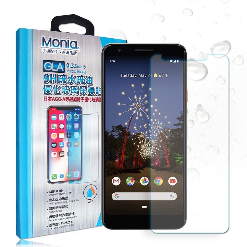MONIA Google pixel 3a XL 日本頂級疏水疏油9H鋼化玻璃膜
