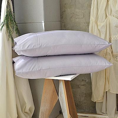 澳洲Simple Living 300織台灣製純棉美式信封枕套-二入(月見紫)