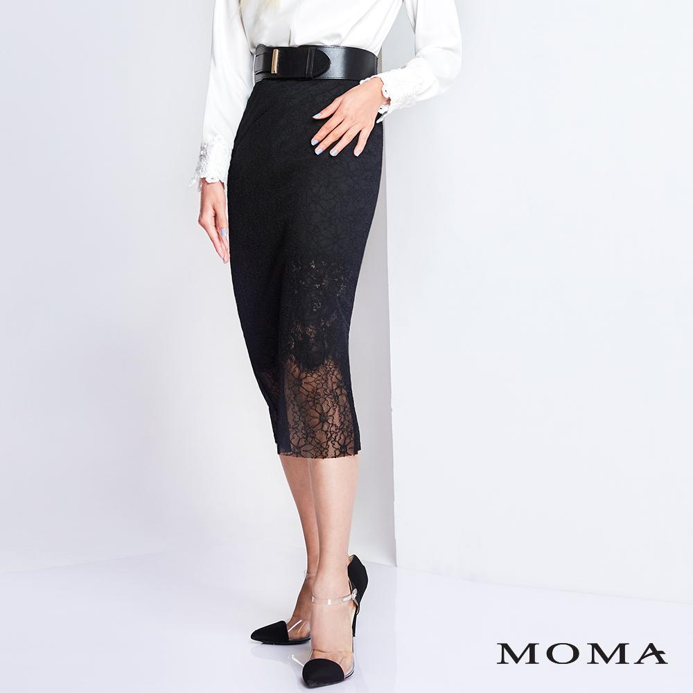 MOMA 車骨蕾絲窄裙