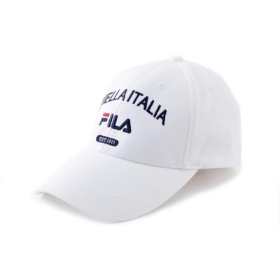FILA 時尚LOGO帽-白 HTV-1100-WT