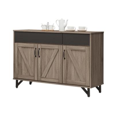 Boden-羅比4尺工業風收納餐櫃/碗盤櫃-121x46x86cm