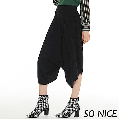 SO NICE個性設計款羅馬布哈倫褲
