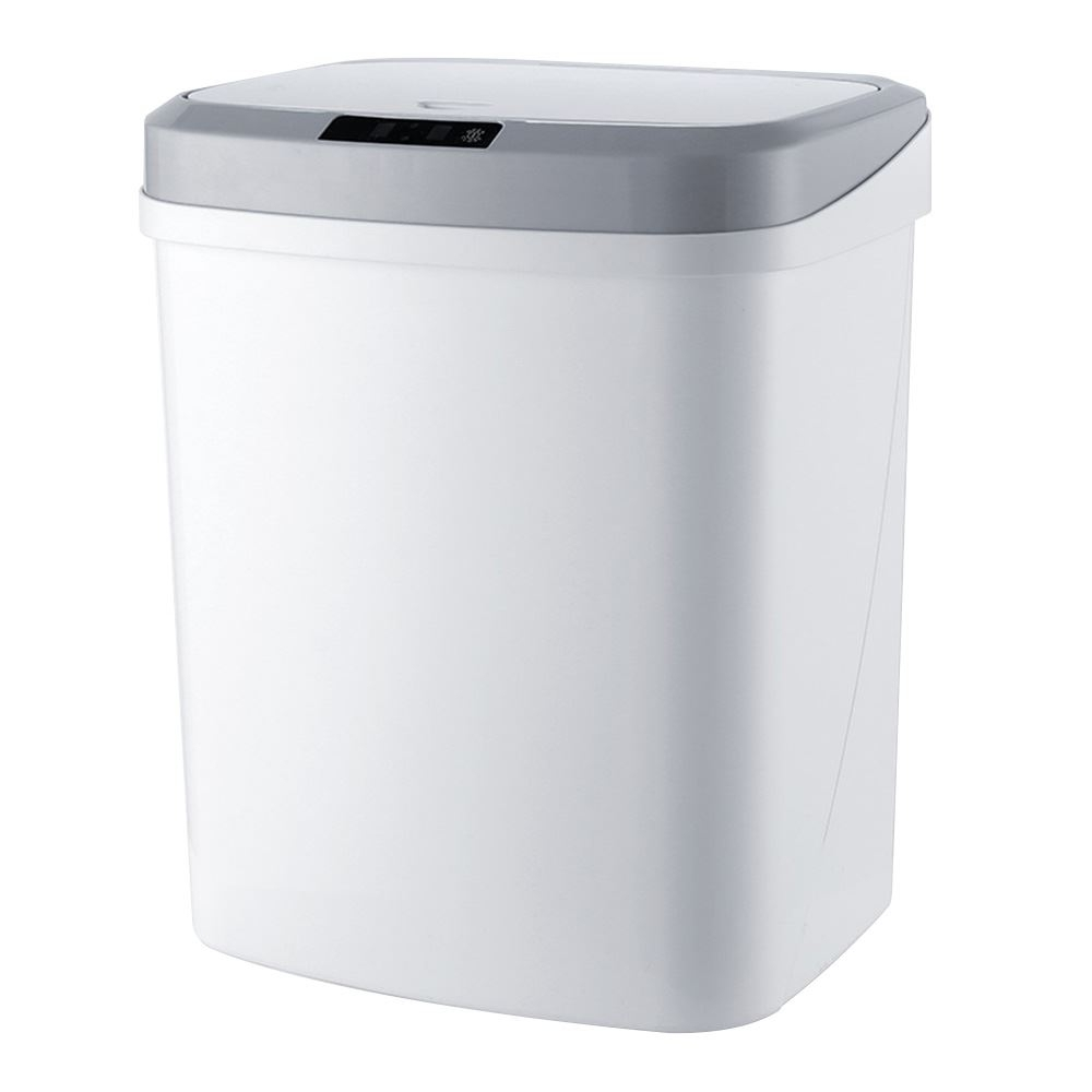 【FJ】大容量15L敲碰式感應垃圾桶(踢碰感應)