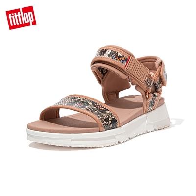 FitFlop HEDA SNAKE PRINT BACK-STRAP SANDALS 運動風後帶涼鞋 女(胭脂裸膚/蛇紋)
