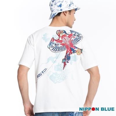 日本藍 BLUE WAY – 棒系列風箏V領短TEE
