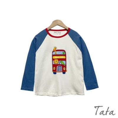 童裝 動物巴士印花撞色長袖上衣 TATA KIDS