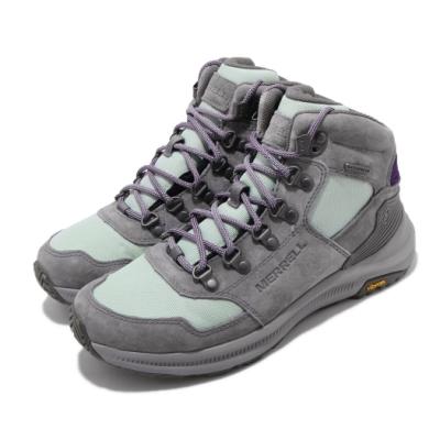 Merrell 戶外鞋 Ontario Waterproof 女鞋 登山 越野 耐磨 黃金大底 防水 中筒 灰 紫 ML033868
