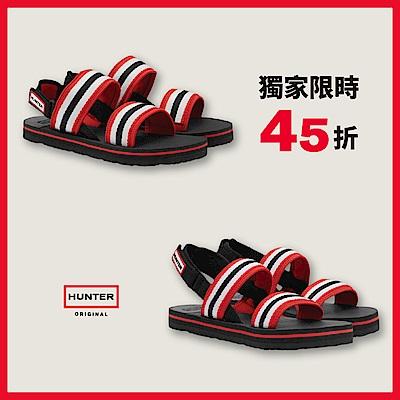 [時時樂] HUNTER - 男女鞋 - 海灘綁帶涼鞋 - 黑