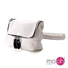 mo.oh-防水皮革小包兩用腰包-白色