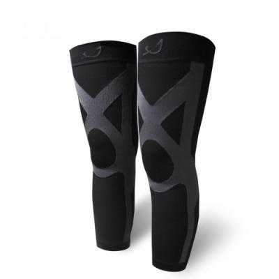 SNUG 真品運動壓縮全腿套(黑灰色-XL號)