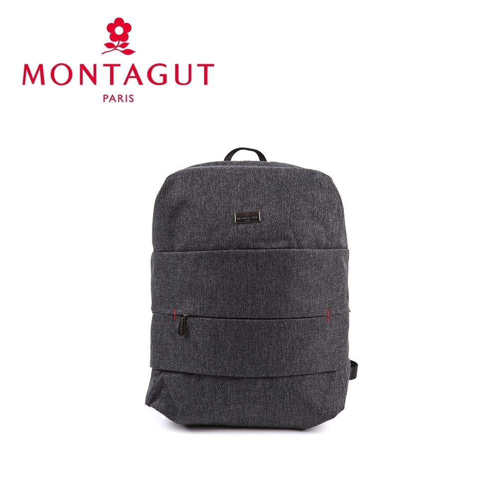 【  MONTAGUT 夢特嬌  】防潑水功能筆電後背包