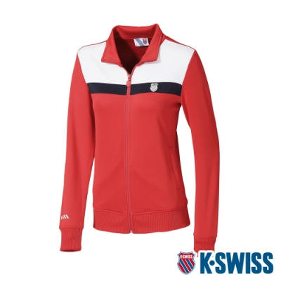 K-SWISS Shield Logo Panel Jacket運動外套-女-紅