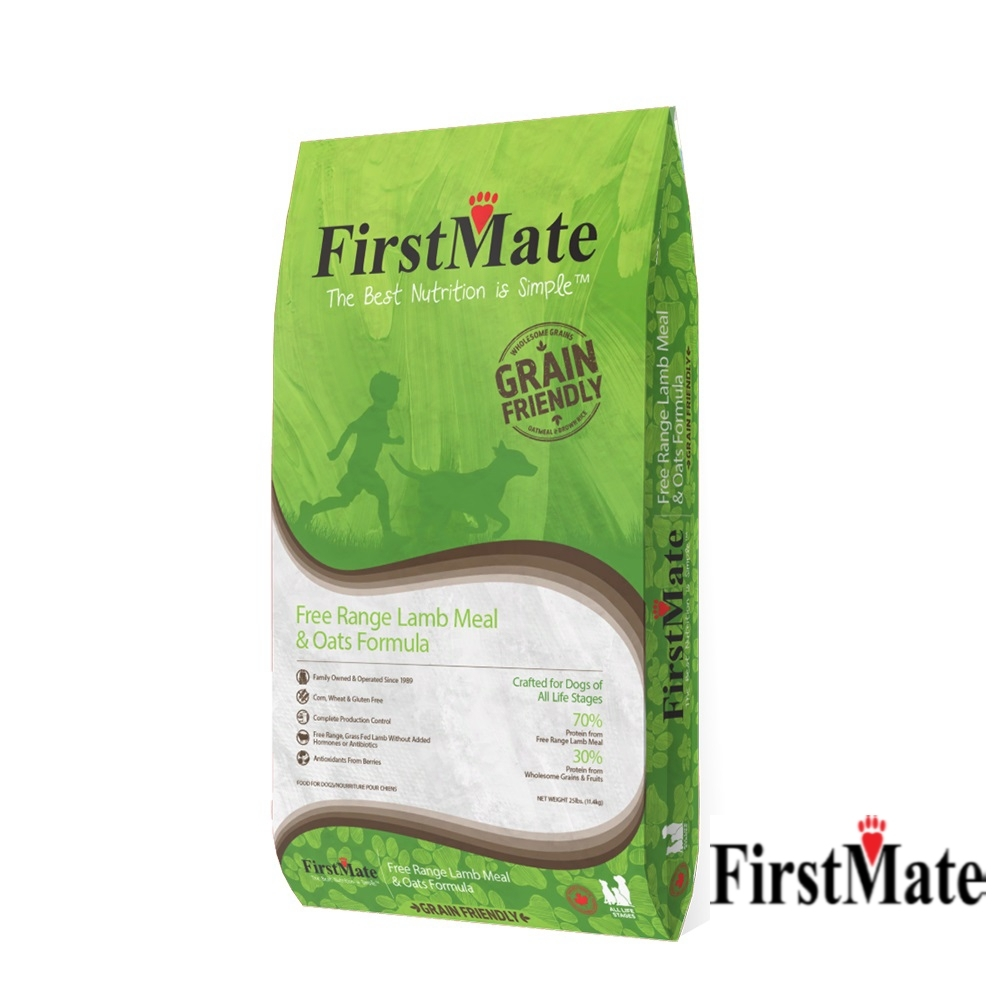 第一饗宴 優穀健康  放牧羊 燕麥全犬11.4kg FirstMate WDJ 單一蛋白 狗飼料