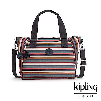 Kipling繽紛仲夏條紋手提側背包-AMIEL