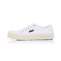 (男女)FILA中性餅乾帆布鞋-白