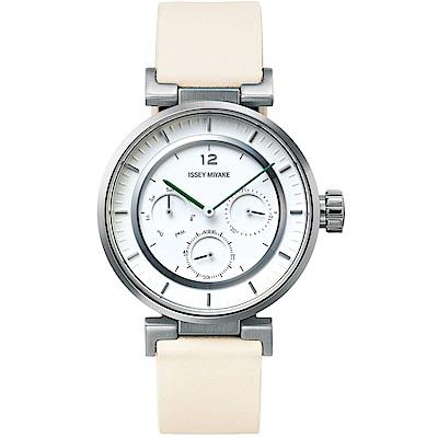 ISSEY MIYAKE三宅一生 W mini系列腕錶(NYAB001Y)-白/39mm