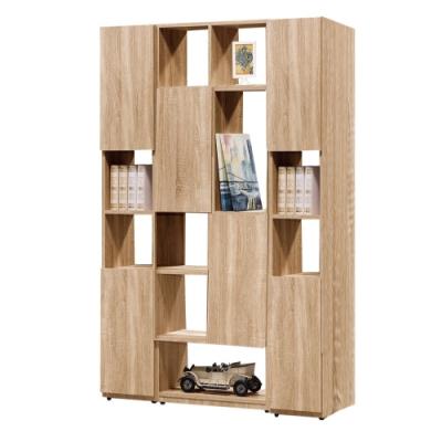 文創集 威爾比4尺多功能雙面櫃/玄關櫃(二色可選)-120x30x180cm免組