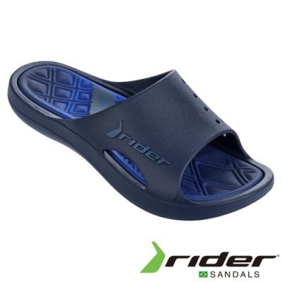 RIDER 男 BAY VI 一字拖鞋-藍