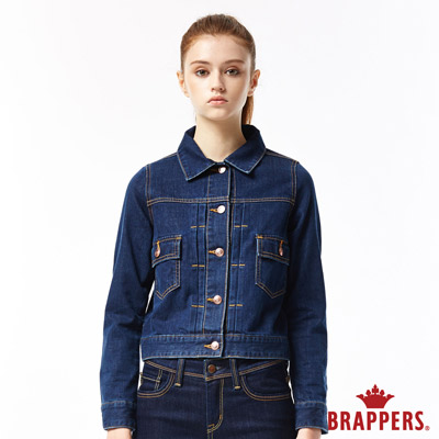 BRAPPERS 女款 Boy Friend牛仔夾克系列-女用牛仔長袖外套-藍