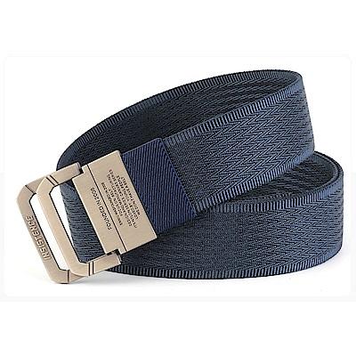 ZK2050BU合金雙環扣尼龍腰帶藍色(腰圍20吋-40吋適用)