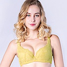 思薇爾 輕戀香系列B-F罩蕾絲包覆內衣(楊桃綠)