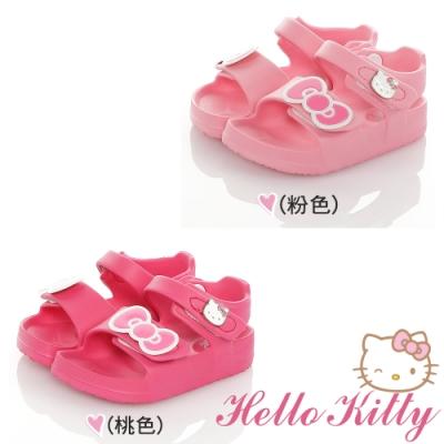 Hello Kitty童鞋 防水極輕量吸震腳床型休閒涼鞋-粉.桃