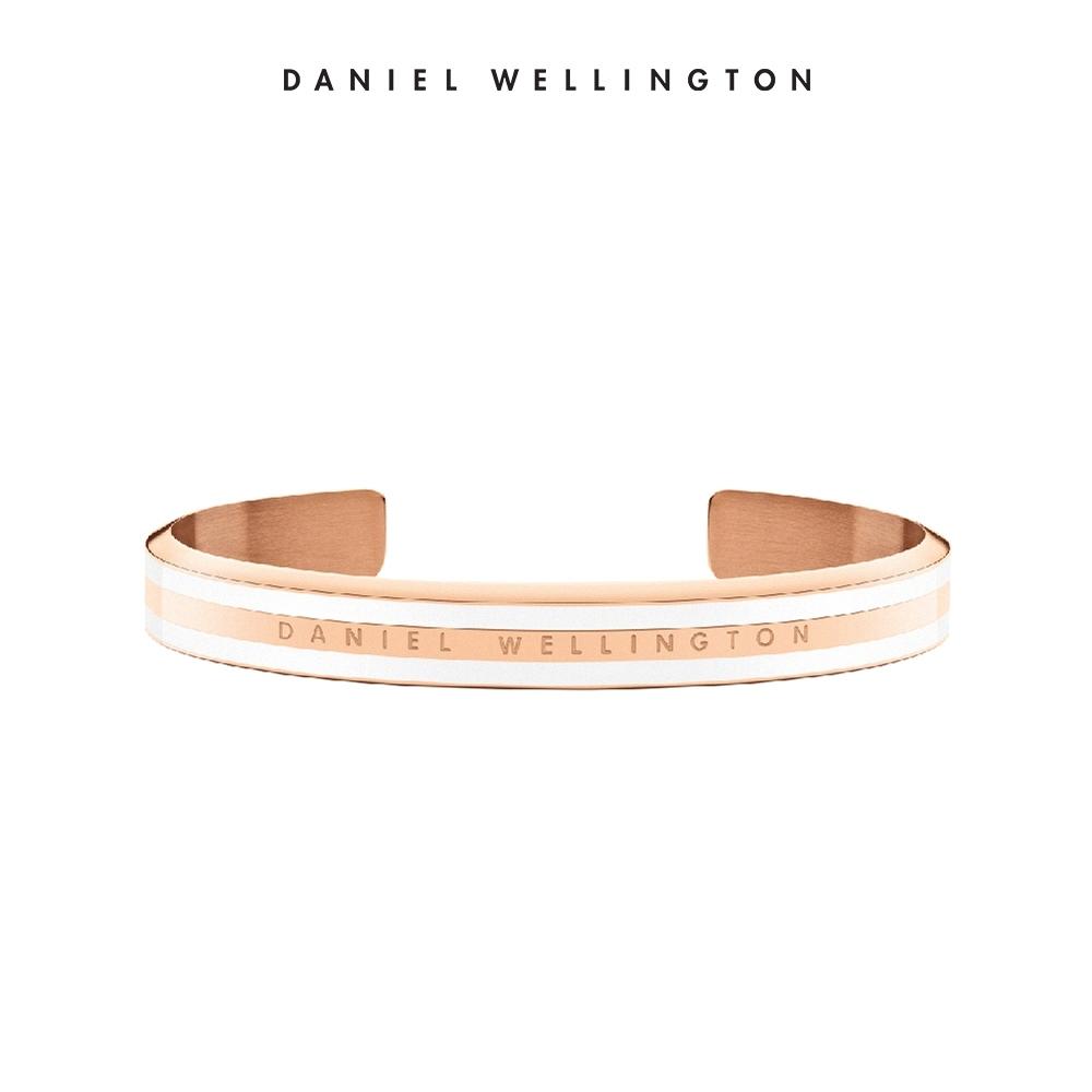 DW 手環 Classic Bracelet 時尚奢華手鐲 玫瑰金x白-M
