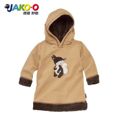 JAKO-O 德國野酷-長袖帽T連身裙-淺褐