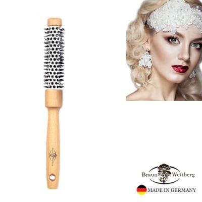 德國BRAUN WETTBURG 珀薇德國製 24MMFSC原木陶瓷熱塑捲髮梳  (一入)