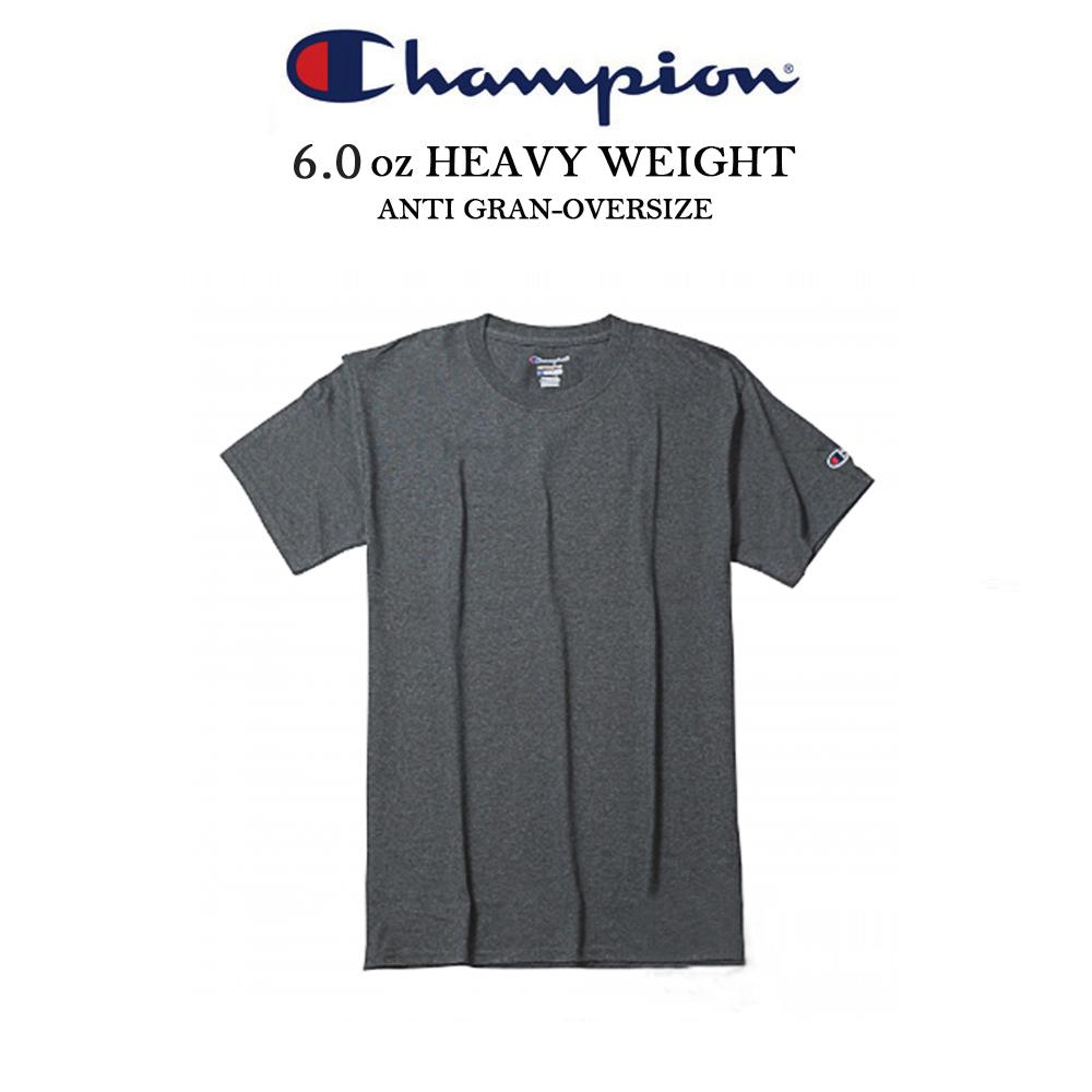 冠軍CHAMPION電繡小標素t 重磅短t 美規 運動-深灰色