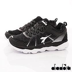 DIADORA-輕彈增高跑鞋款 SI670黑(女段)