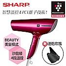 SHARP 夏普 智慧溫控離子吹風機/優雅紅IB-JP9T-R