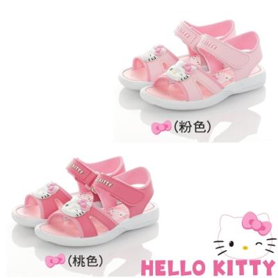 Hello Kitty童鞋 蝴蝶結系列 輕量減壓休閒涼鞋-粉.桃
