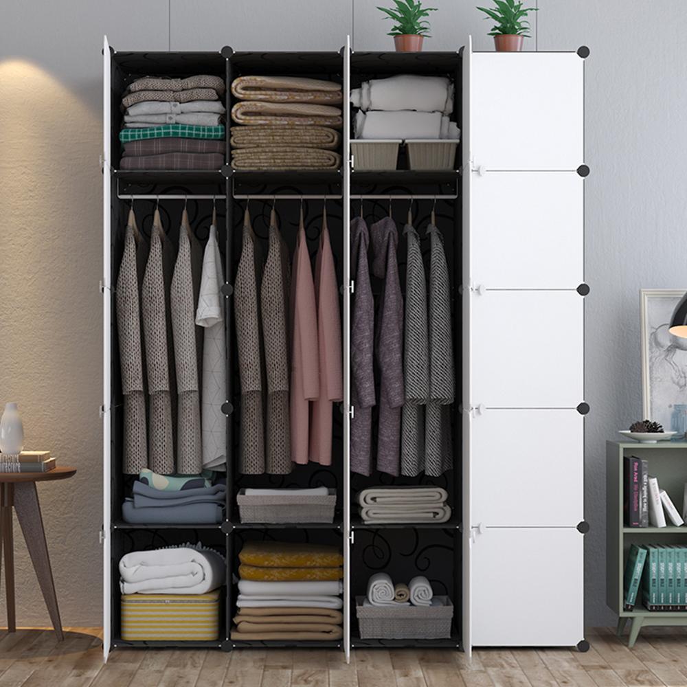 【Mr.Box】20格20門3掛衣櫥收納櫃/整理收納組合櫃