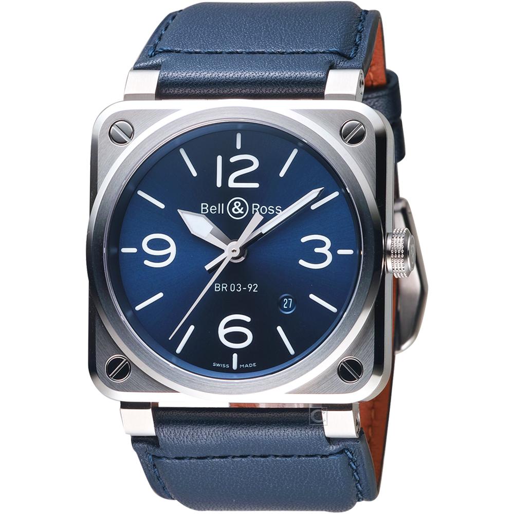 Bell & Ross BR 03-92時尚機械錶(BR0392-BLU-ST/SCA)