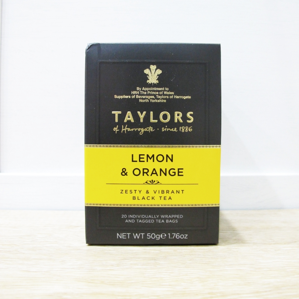 英國皇家泰勒茶Taylors 檸檬香橘茶紅茶包(20入/盒)