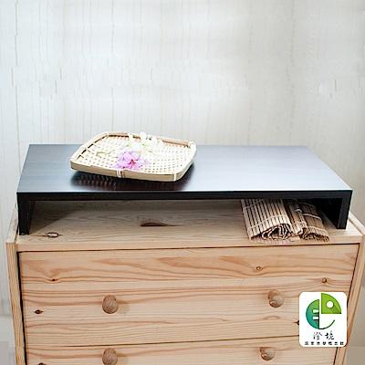 澄境 MIT防潑水木紋電腦螢幕架/置物架/桌上架(2入組)-胡桃-DIY