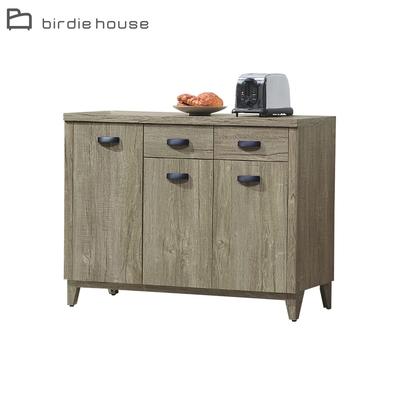 柏蒂家居-伊昂4尺三門二抽餐櫃/碗盤櫃/電器櫃/置物矮櫃-121x40x89cm