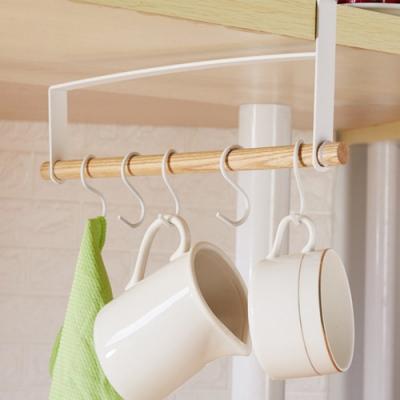 無印風 櫥櫃吊掛杯架/抹布架 一個