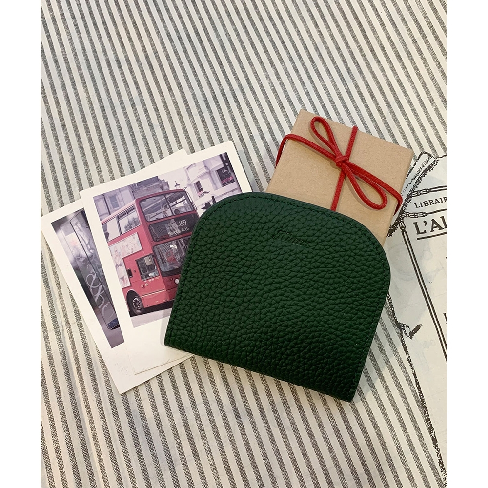 KINAZ 柔軟真皮萬用卡片夾-耶誕綠-糖果童話系列-快
