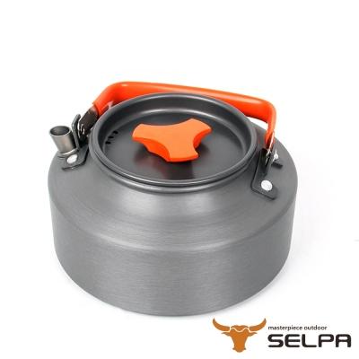 韓國SELPA <b>1</b>.1L鋁合金茶壺熱水壺泡茶壺 紅色