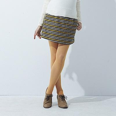 【ohoh-mini 孕婦裝】經典格紋彈性孕婦短裙