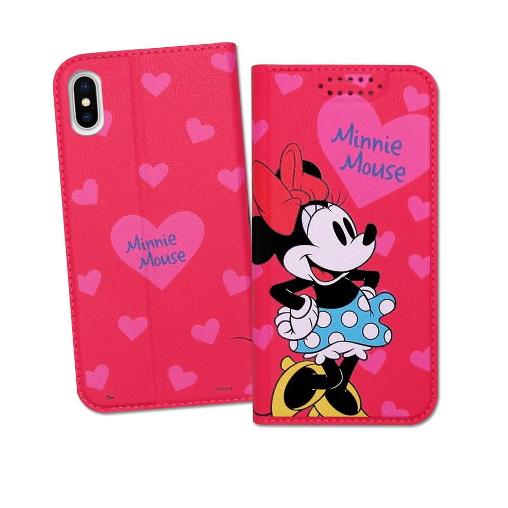 迪士尼授權正版 iPhone Xs / X 5.8吋 印花系列彩繪皮套(米妮)