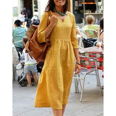 【KEITH-WILL】寬鬆素面歐美風街頭洋裝-1色