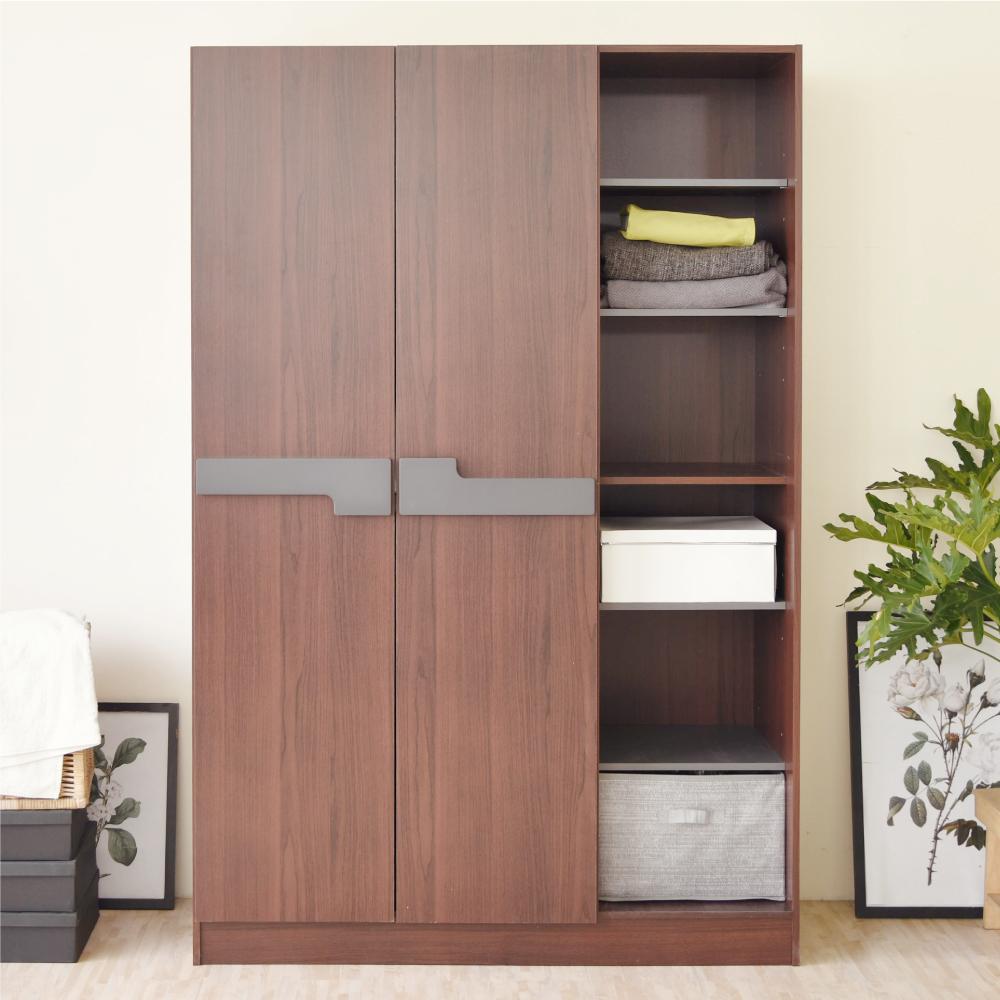 《HOPMA》DIY巧收大容量二門六格衣櫥/櫃子-寬119 x深52.5 x高180cm