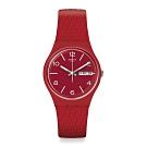 Swatch Bau 包浩斯系列手錶 LAZERED 結構紅潮-34mm