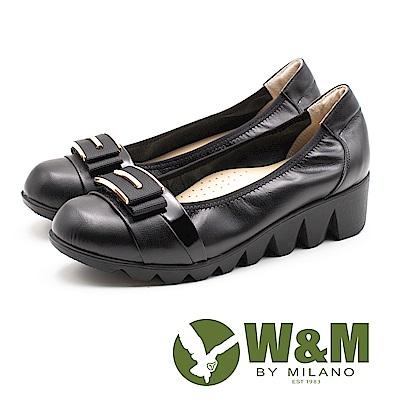 W&M (女)平行厚底娃娃鞋-黑(另有古銅金)