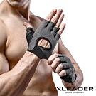 Leader X 專業健身 耐磨防滑運動手套 騎行半指手套 男女適用 黑色