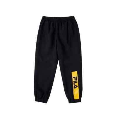 FILA KIDS 童平織長褲-黑色 1PNU-8908-BK